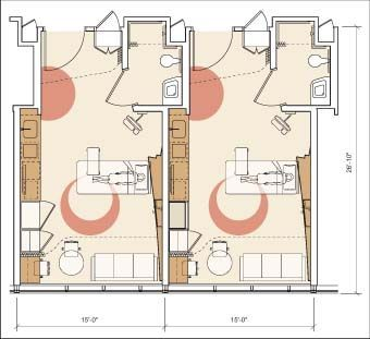 Patient room layout hospital pinterest layouts room and hospital design - Room design for small space plan ...