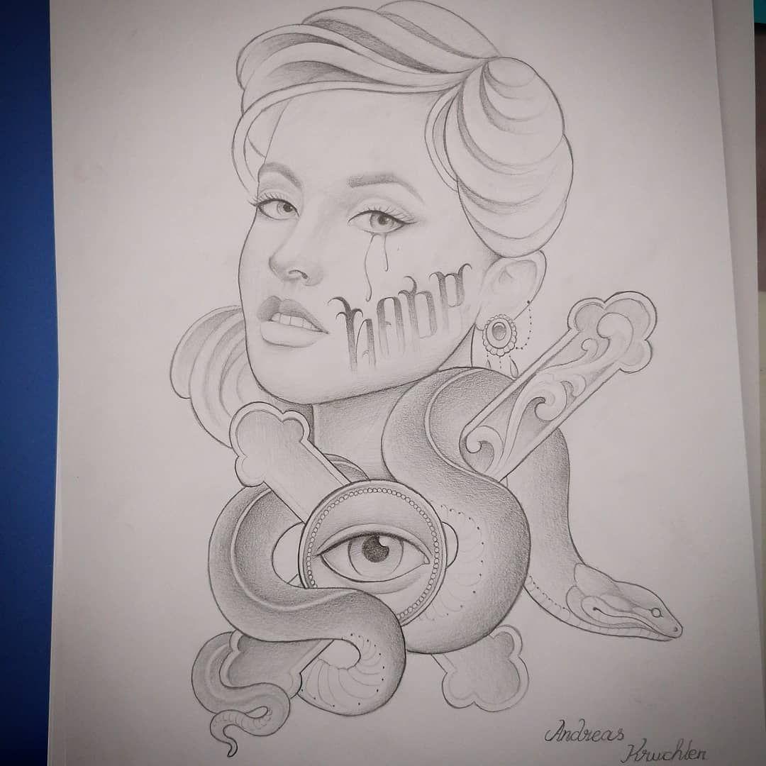 #womendrawing #tattooink #tattoolovers #tattoogirlsface
