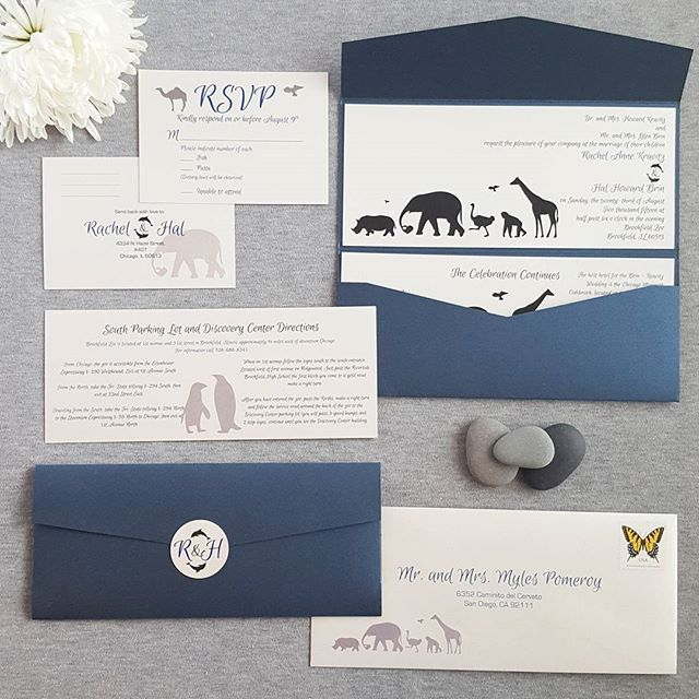 Zoo Theme Wedding Invitation Silhouette Animals For Matching Zoo