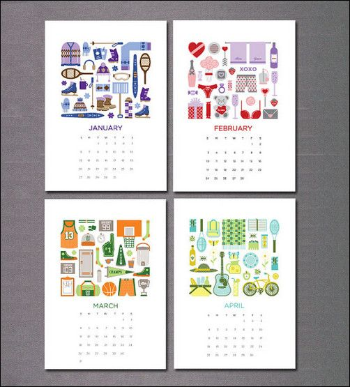 Typography Calendar Creative : Calendar designs and patterns pinterest