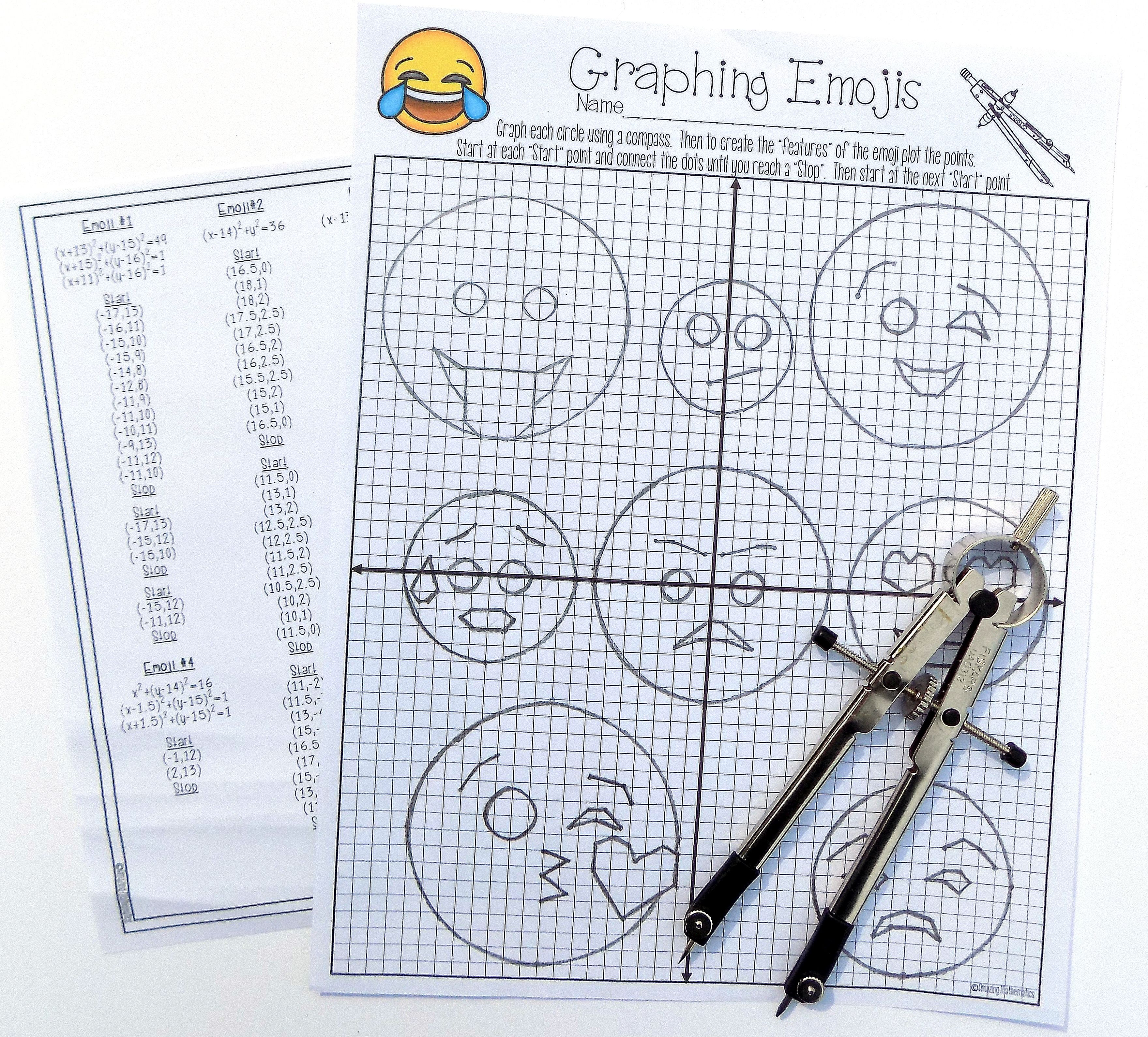Equations Of Circles Activity Teaching Geometry Geometry