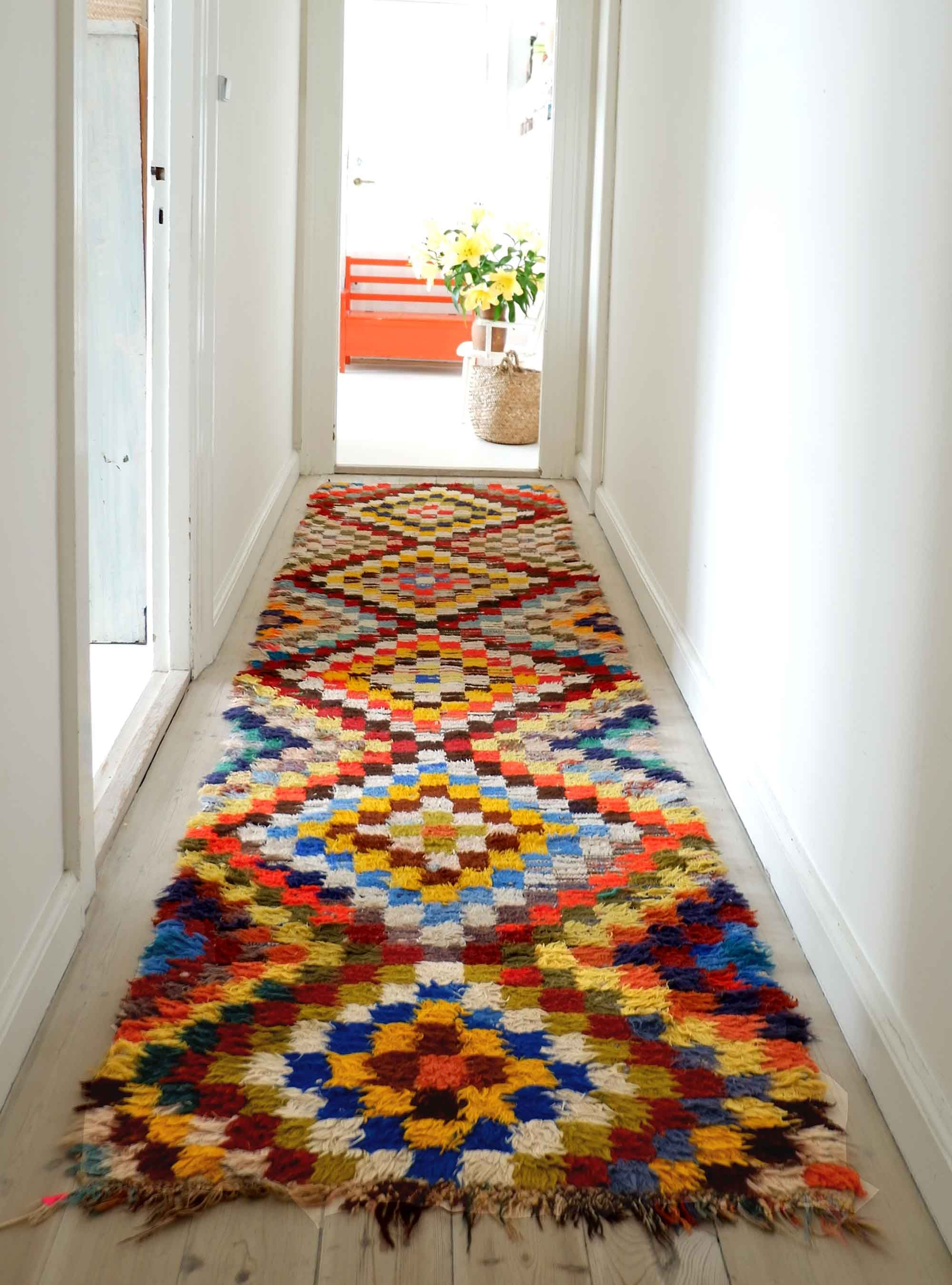 Moroccan vintage runner rug in a Nordic interior in Denmark ... 090b8f3cb
