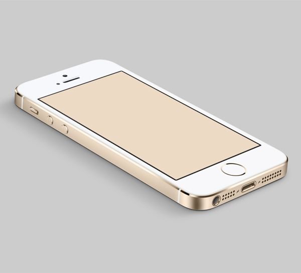New iPhone5S Gold Edition Mockup PSD - http://www.welovesolo.com/new-iphone5s-gold-edition-mockup-psd/