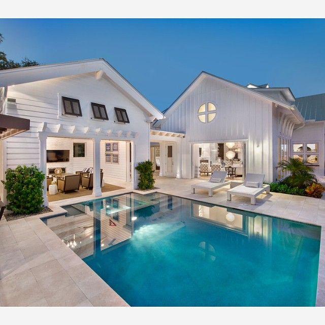 Instagram Analytics Pool-Haus, Traumhäuser und Schwimmteich