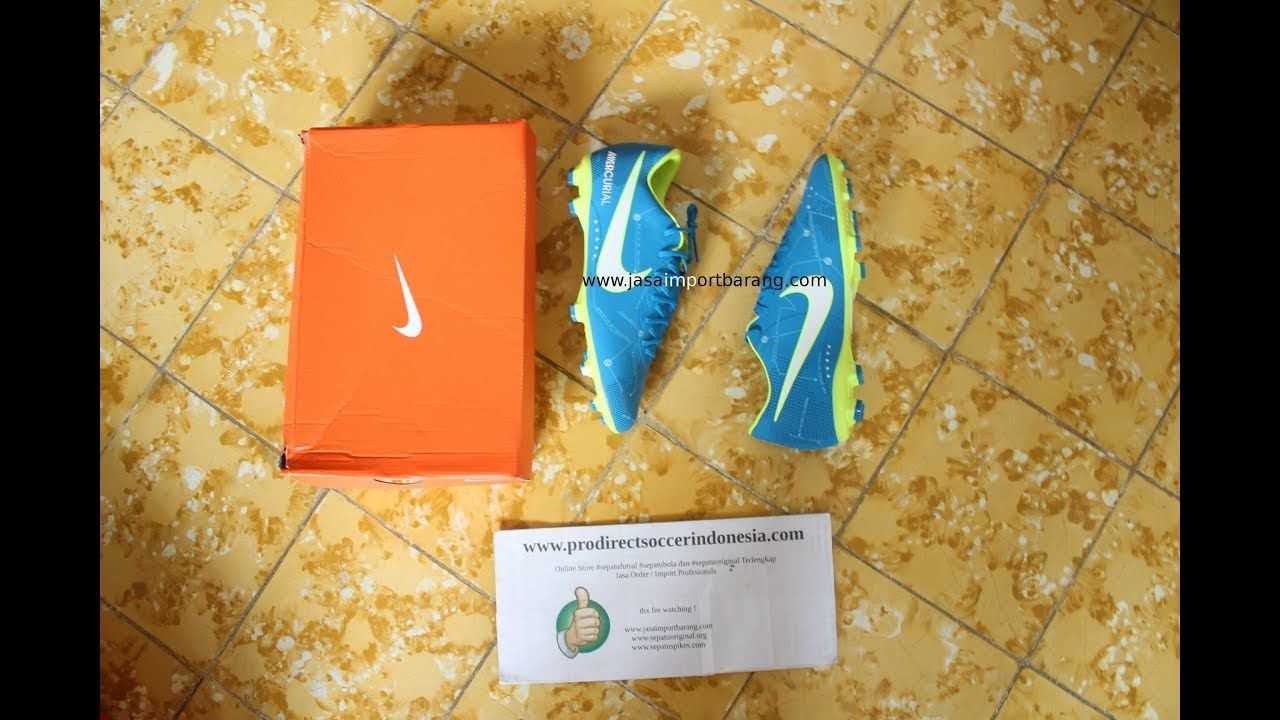 Sepatu Bola Nike Mercurial Vapor Xi Njr Fg Junior Blue Orbit