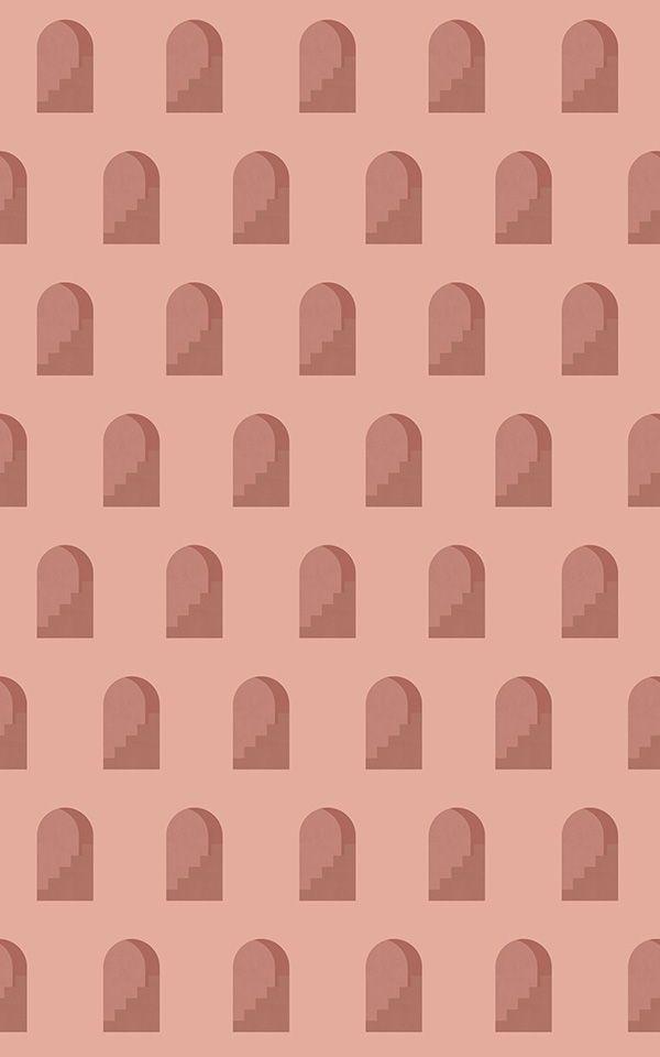 Terracotta Architectural Design Wallpaper Mural | MuralsWallpaper