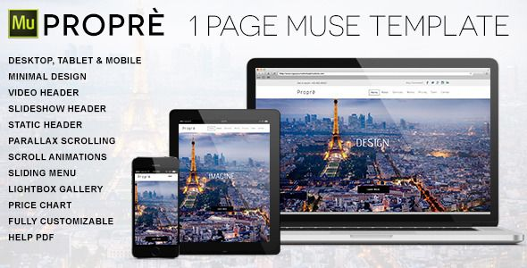 Propre  Page Muse Template  Features  Web Design Lovers