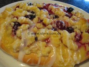 Schnelle Pudding Obst Streusel Teilchen Kuchen Pinterest