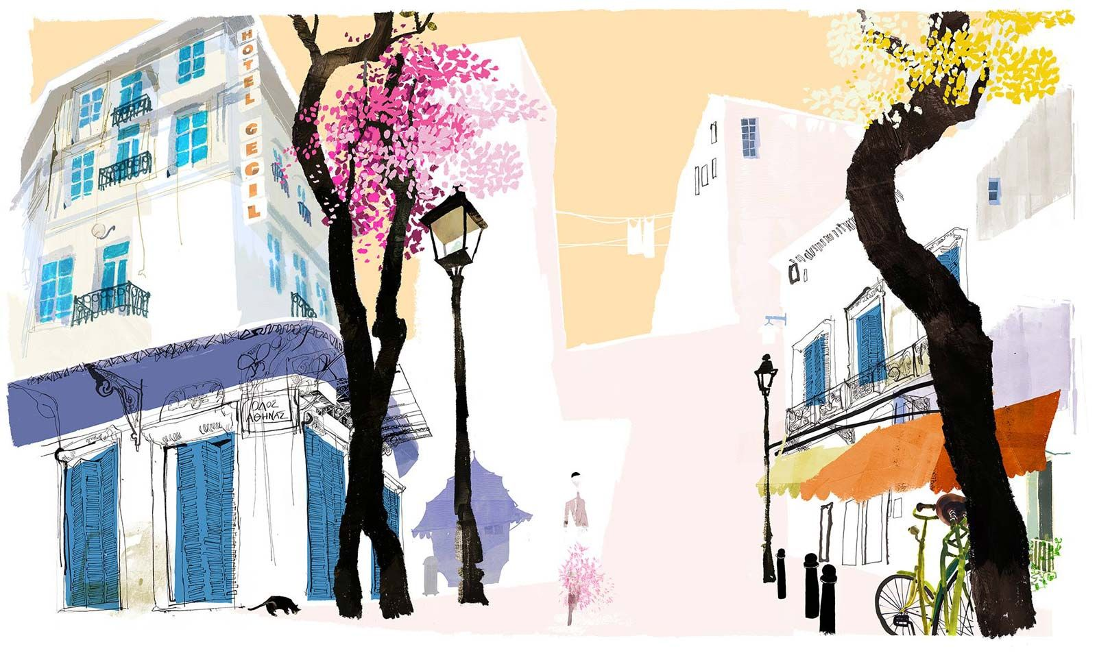 Daniel Egneus Decided To Do These Drawings Of Athens As A