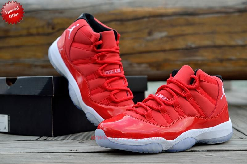 348cf4838175a0 Mens-Womens Red White 378037-623 Red Suede AIR JORDAN 11 For Cyber ...