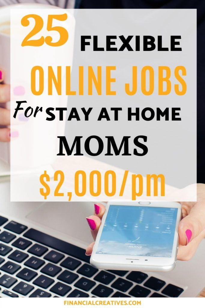 25 Flexible Online Jobs for Stay at Home Moms | Stay At Home Jobs for Moms