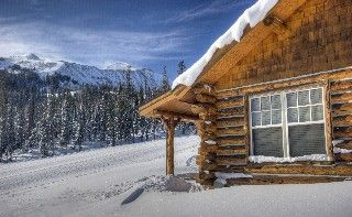 Big Sky Cabin Rental Cozy Ski In Out Slopeside Mountain Cabin Free Airport Transfer Homeaway Mountain Cabin Cabin Homeaway