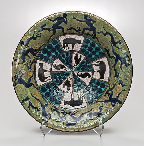 Charger  Designer:André Metthey (French, Laignes 1871–1920 Asnieres-sur-Seine) Date:ca. 1910 Medium:Earthenware Dimensions:14 1/2 × 3 1/4 in. (36.8 × 8.3 cm) Classification:Ceramics-Pottery