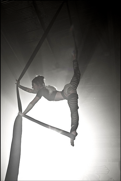 aerial silks! <3 I am going to take classes one day!