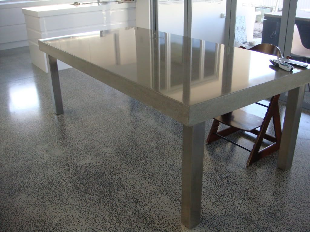 Concrete Top On Desk Google Search Tablepolished
