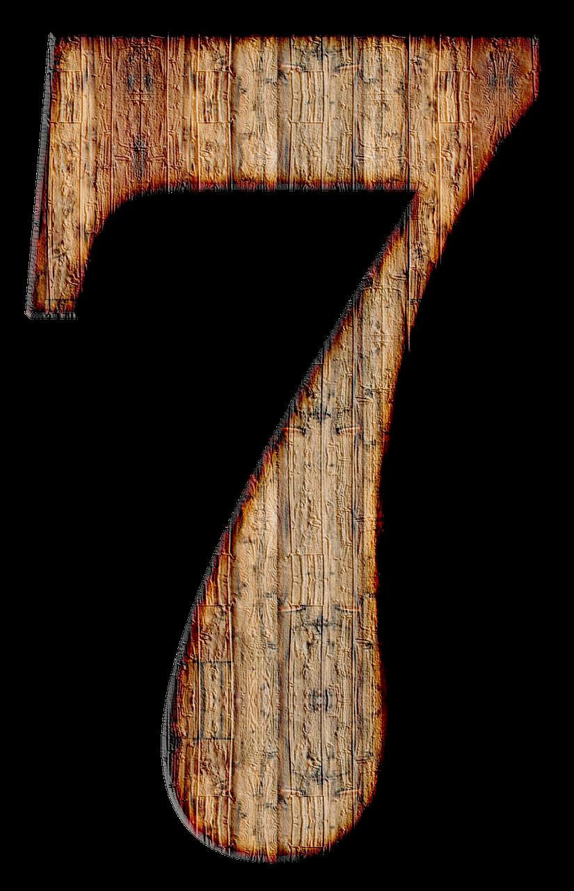Number 7 Seven Digit Background Transparent Image Door Repair Infographic Design Layout Garage Doors For Sale