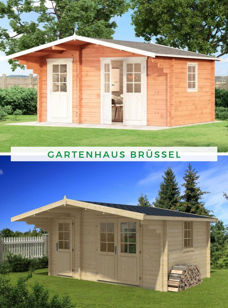 Alpholz Gartenhaus Brüssel44 ISO Gartenhaus, Satteldach