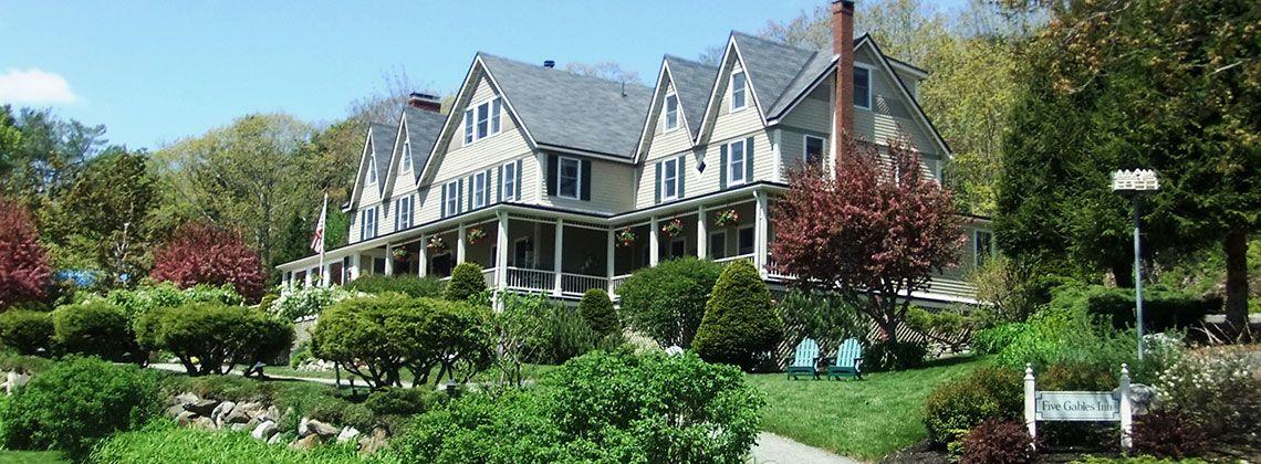 Five Gables Inn near Boothbay Harbor, Maine in serene East