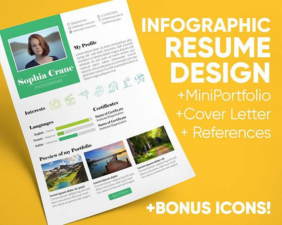 Infographic Resume Template Cover Letter References Resume - references on a resume template