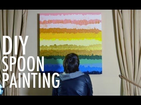 DIY home decor: spoon painting | Spoon, Canvases and Decorating