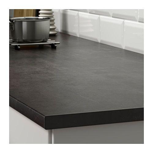 Ekbacken Countertop 74x1 1 8 Ikea Black Laminate