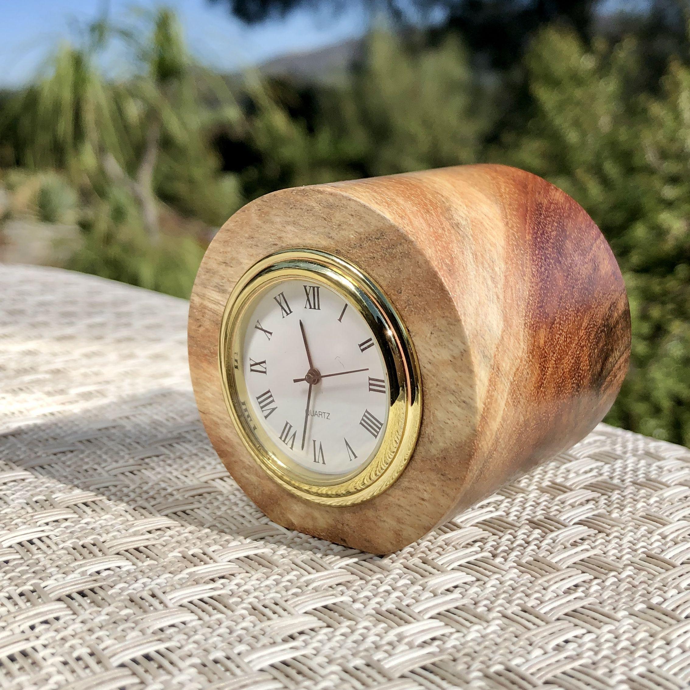 Small Wooden Desk Clock Clock Wood Analog Clock Wedding Gift