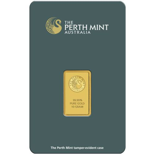 10 Gram Perth Mint Gold Bar New W Assay Mint Gold Gold Bar Buy Gold And Silver
