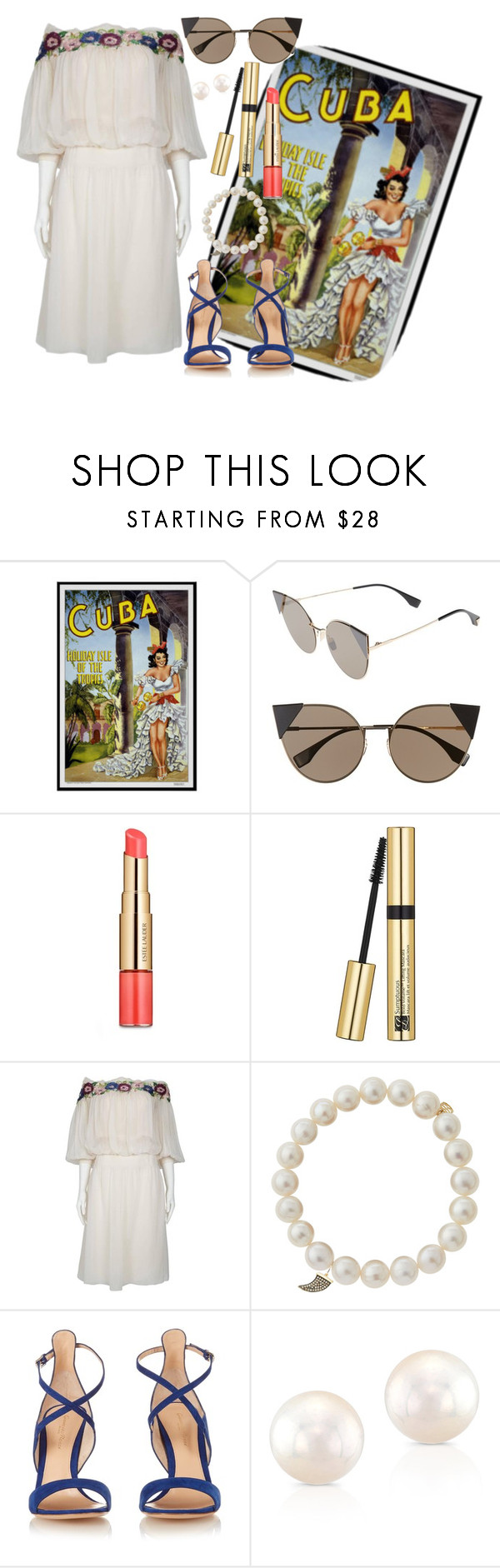 """""""Untitled #464"""" by alexandraspring98 ❤ liked on Polyvore featuring Fendi, Estée Lauder, Sydney Evan, Gianvito Rossi and Anne Sisteron"""