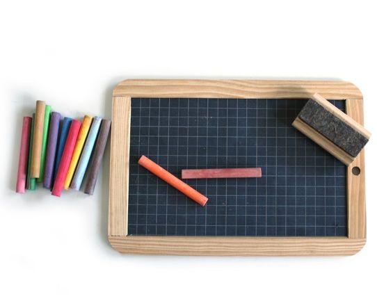 mini grid chalkboard