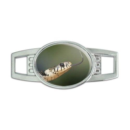 Grass Snake - Tongue - Shoe Sneaker Shoelace Charm Decoration, Silver