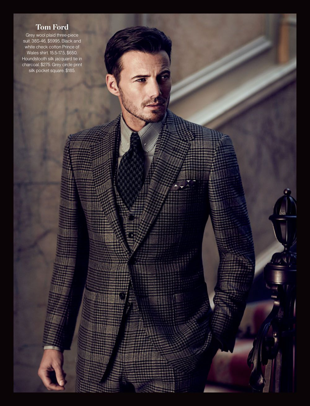 Tom Ford Black Suit Tie