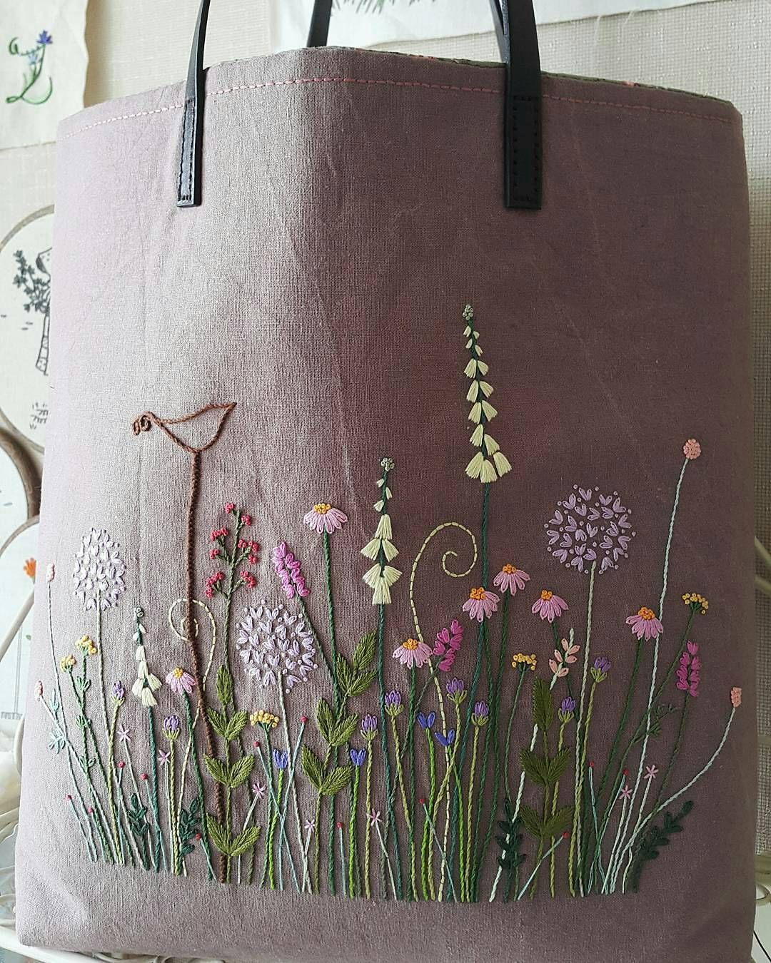 Pin By Gina Kemp On Embroidery Pinterest Embroidery Stitch And Bag