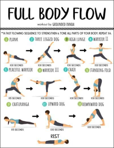 20 Minute Full Body Yoga Workout for Beginners (+ Free PDF)