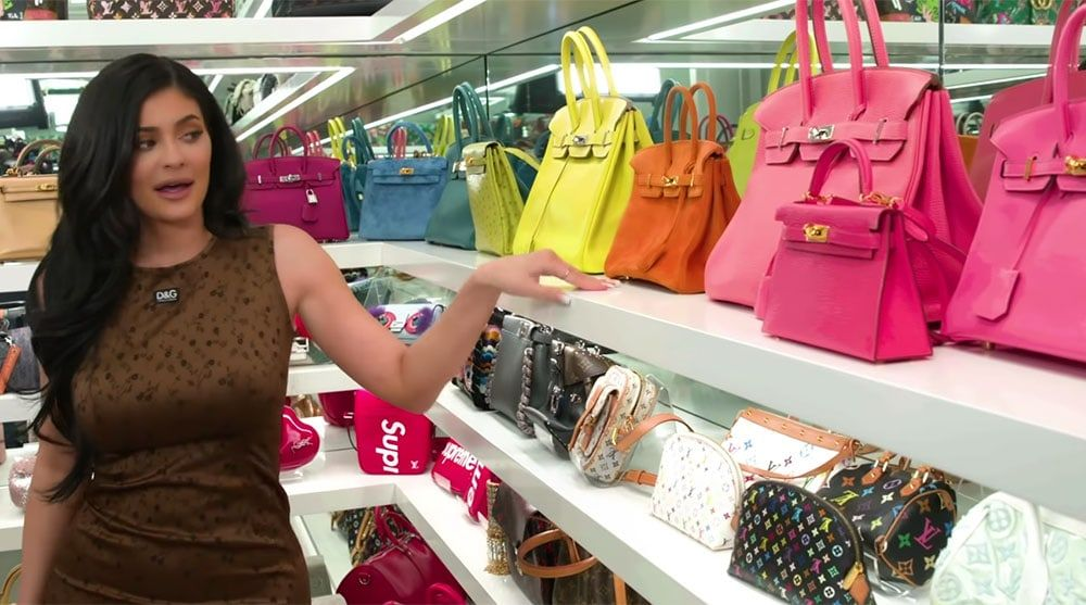 790f897b0 Inside Kylie Jenner's Handbag Room, Complete with Shelves of Rare Birkins  and Collectible Louis Vuitton