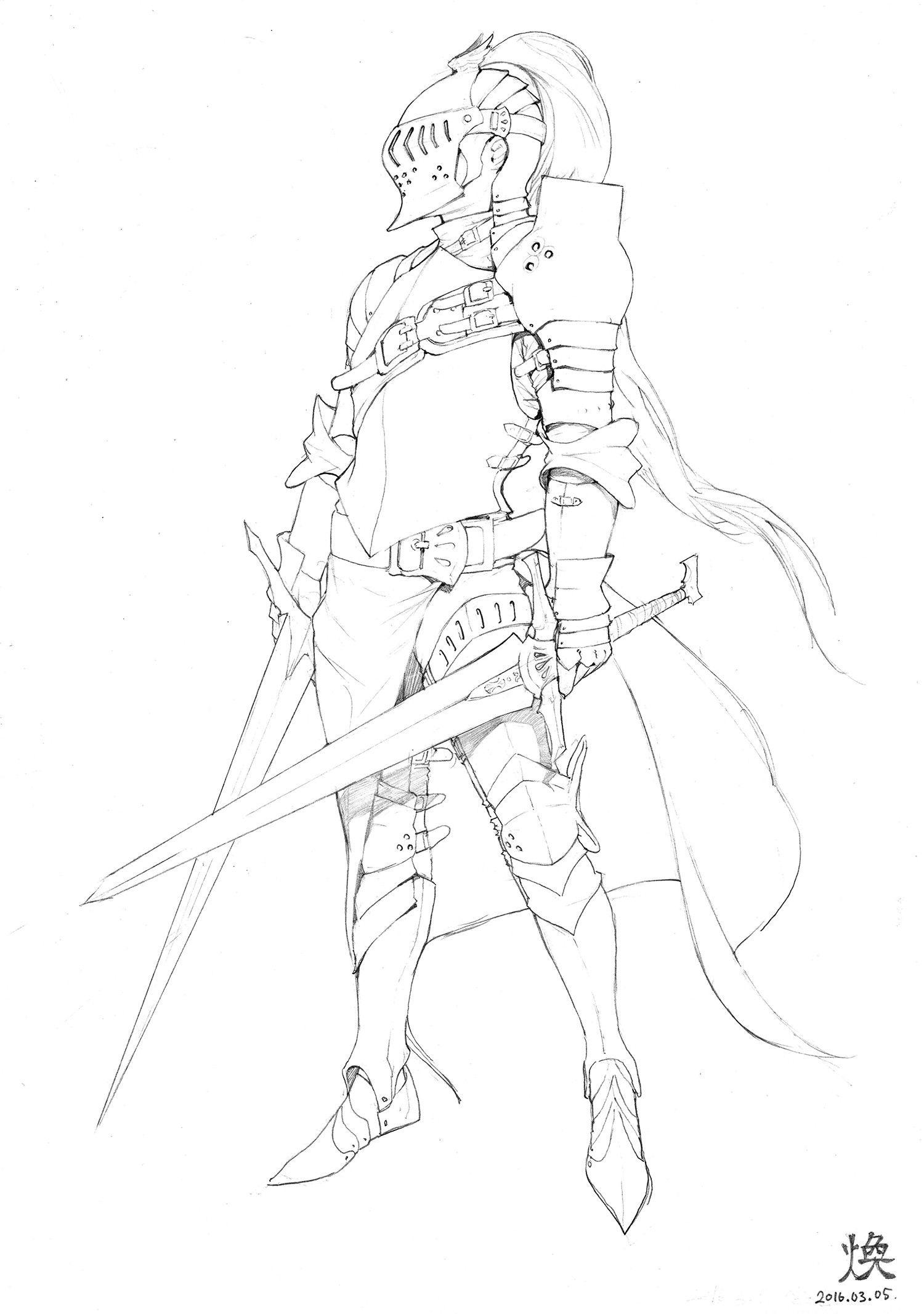 Artstation pencil drawings hwan 煥