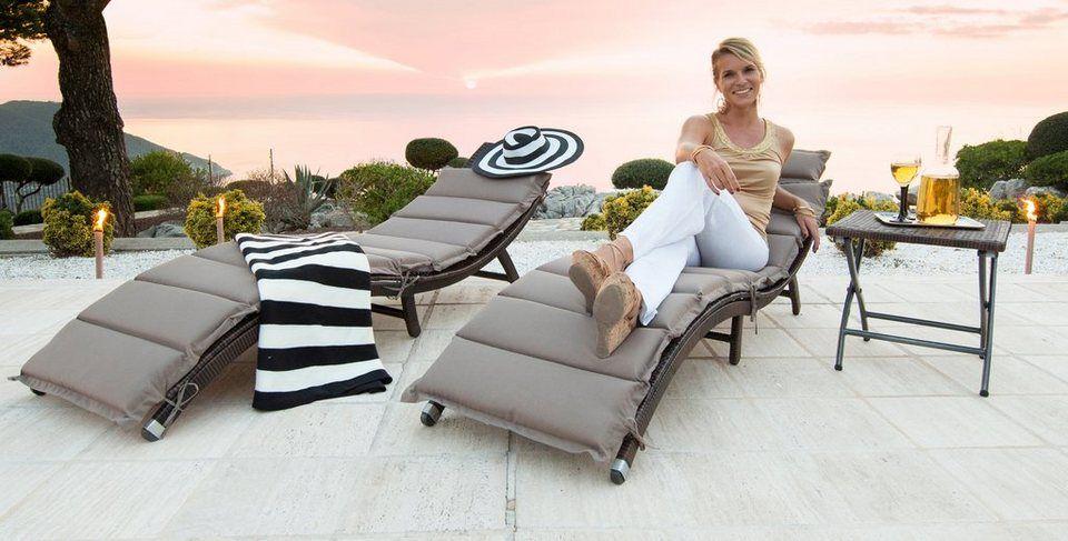 Merxx Gartenliege Alu Textil Klappbar Sonnenliege Mit Gestell Aus Hochwertigem Aluminium Online Kaufen Otto Sonnenliege Gartenliege Aussenmobel