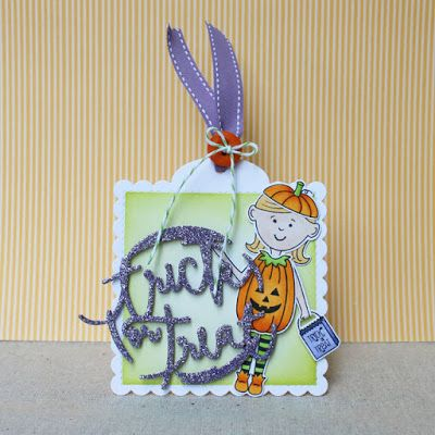 Trick Or Treat Tag by Lizzie Jones for Papertrey Ink (August 2016)