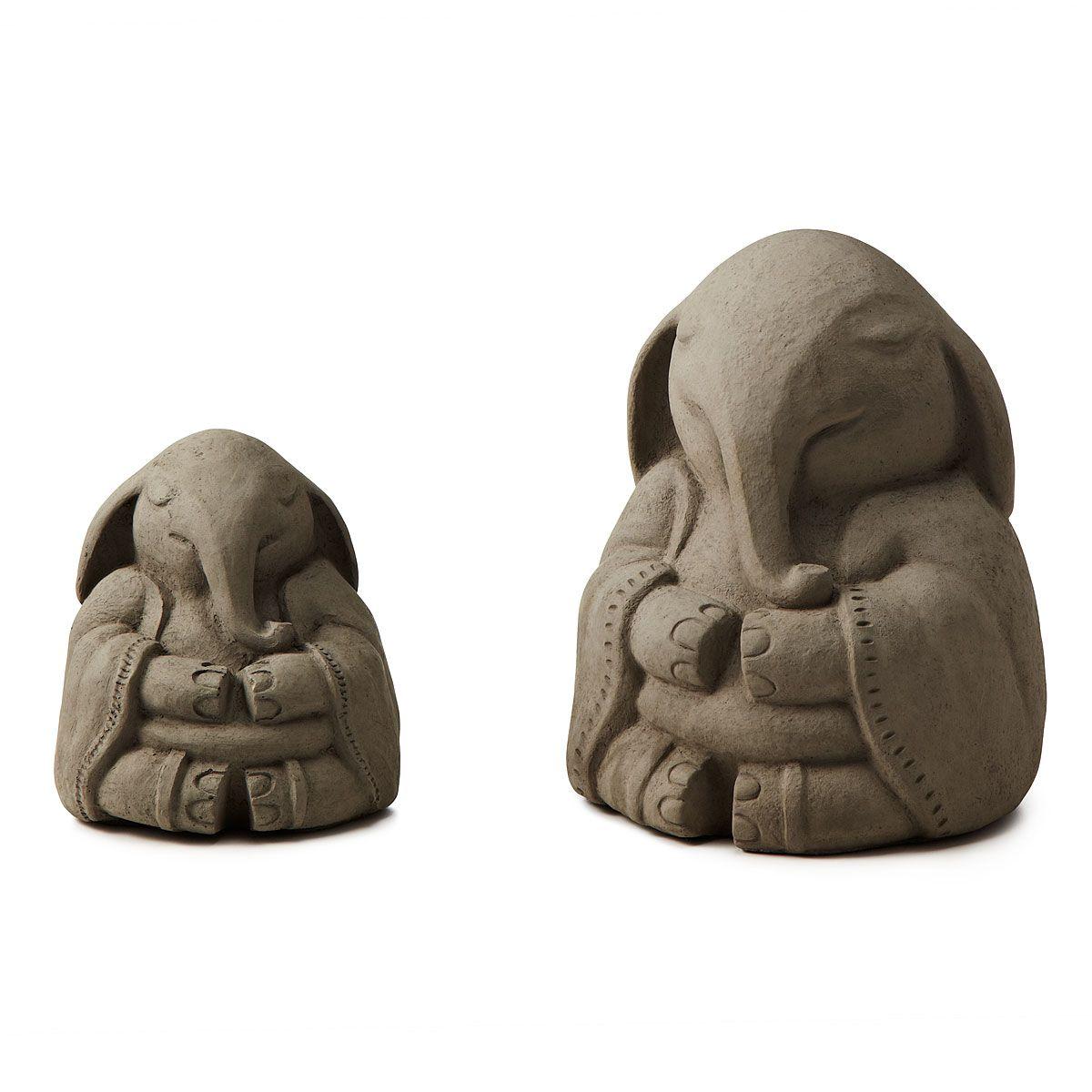 ZEN ELEPHANT GARDEN SCULPTURE | zen garden, praying sculpture | UncommonGoods