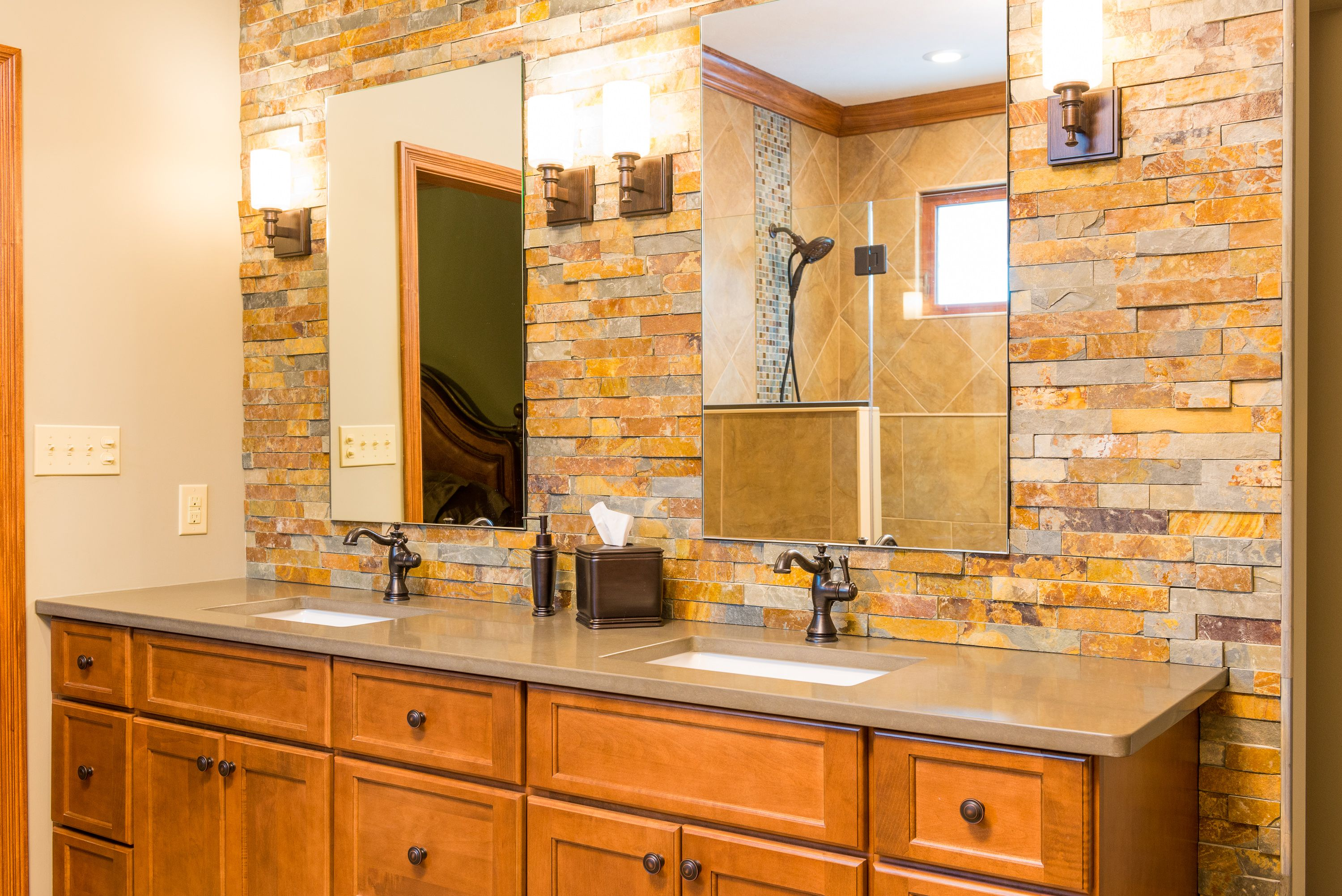 love stone in a bathroom classy and easy to diy with our