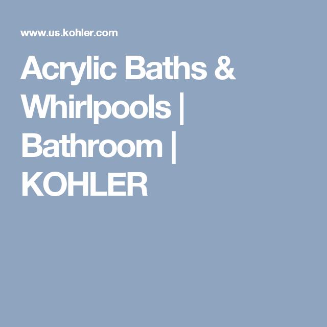 Acrylic Baths & Whirlpools | Bathroom | KOHLER | Home ideas ...