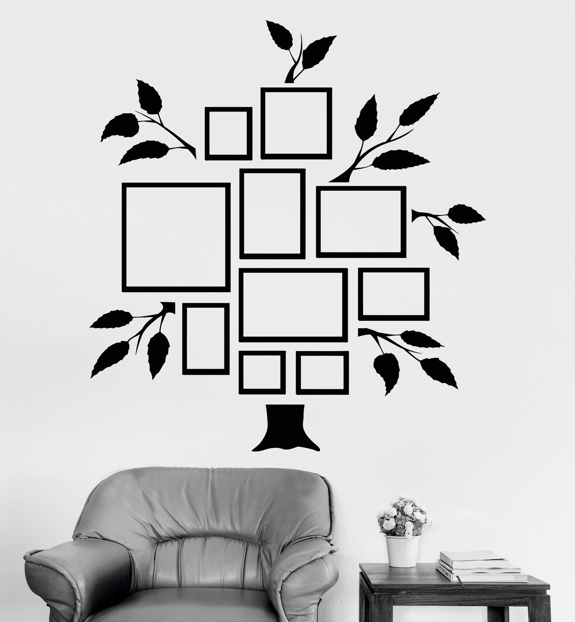 Vinyl Wall Decal Family Tree Frames For Photos Design For Living - Vinyl stickers design