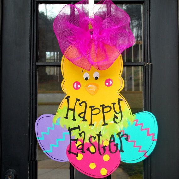 Easter Chick Wreath | Easter Door Hanger | Easter Decoration ...
