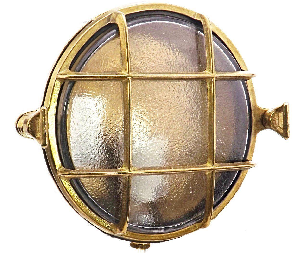 3a13b399146 Rotterdam compact Brass bulkhead Round outdoor waterproof light Nautical  marine wall lamp