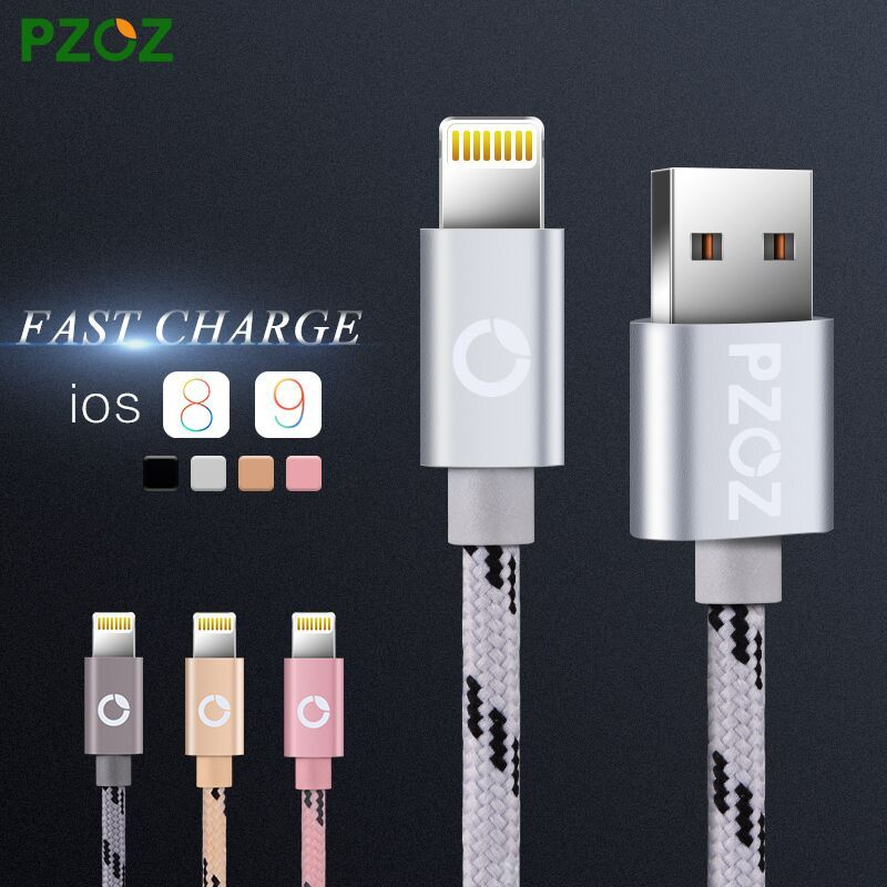 PZOZ Lighting Cable Fast Charger Adapter Original USB Cable For ...