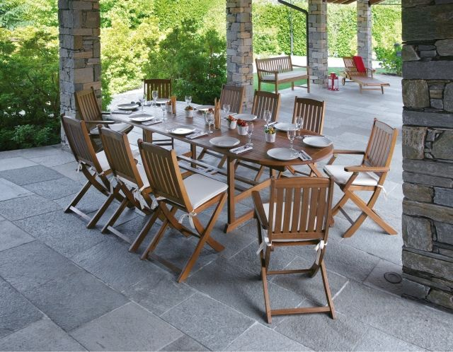 Table de jardin en bois – quel salon de jardin choisir #Table #de ...