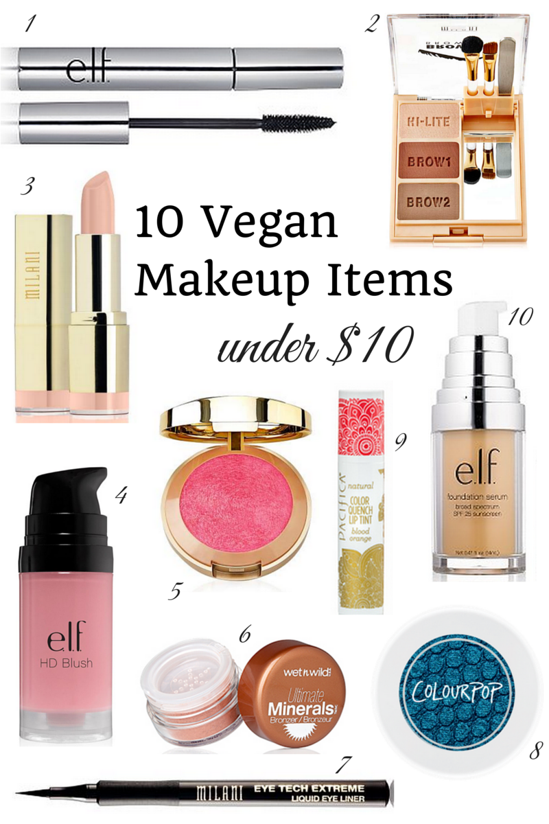 10 Vegan Makeup Items under 10 Vegan makeup, Cruelty