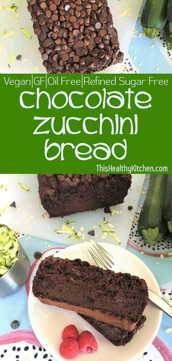 Chocolate Zucchini Bread [Vegan+GF+Oil Free] This bread tastes more like a but without all the sugar! sweeten this delicious treat while hiding any trace of veggies!