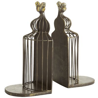 Birdcage Bookend Set DIY Pinterest Bird cages, Apartments and