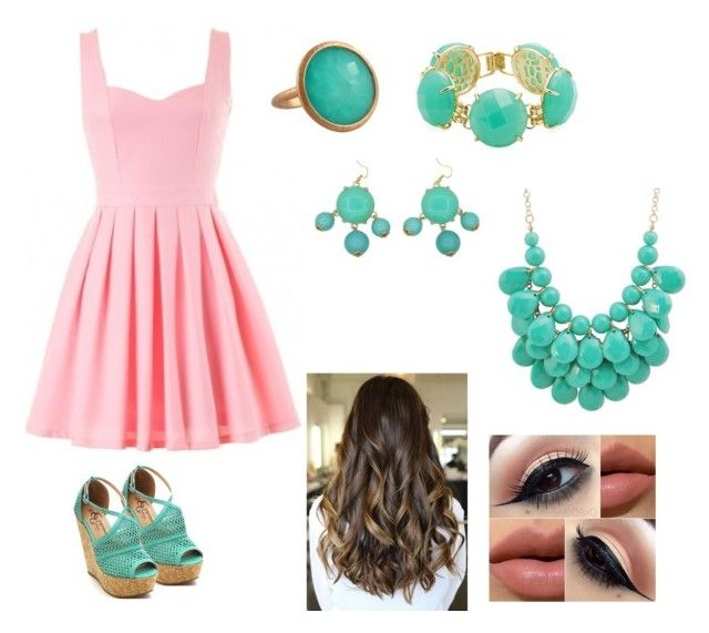 Dress to impress by muchakitas on Polyvore featuring polyvore, fashion, style, Kendra Scott, Jona and clothing