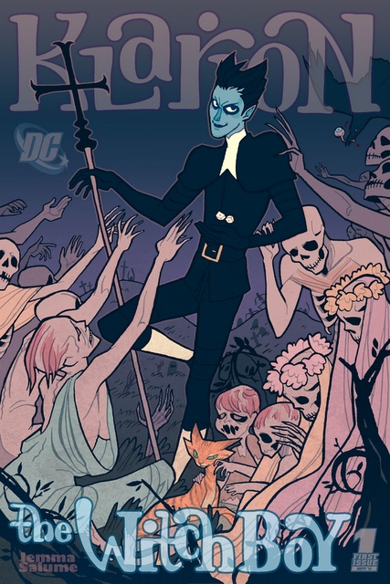 I loved Grant Morrison's take on Klarion The Witch Boy in Seven Soldiers Of Victory, so I, or course, can't resist the spookily pretty faux #1 relaunch cover by Jemma Salume {relaunched-blog.blogspot.com}.